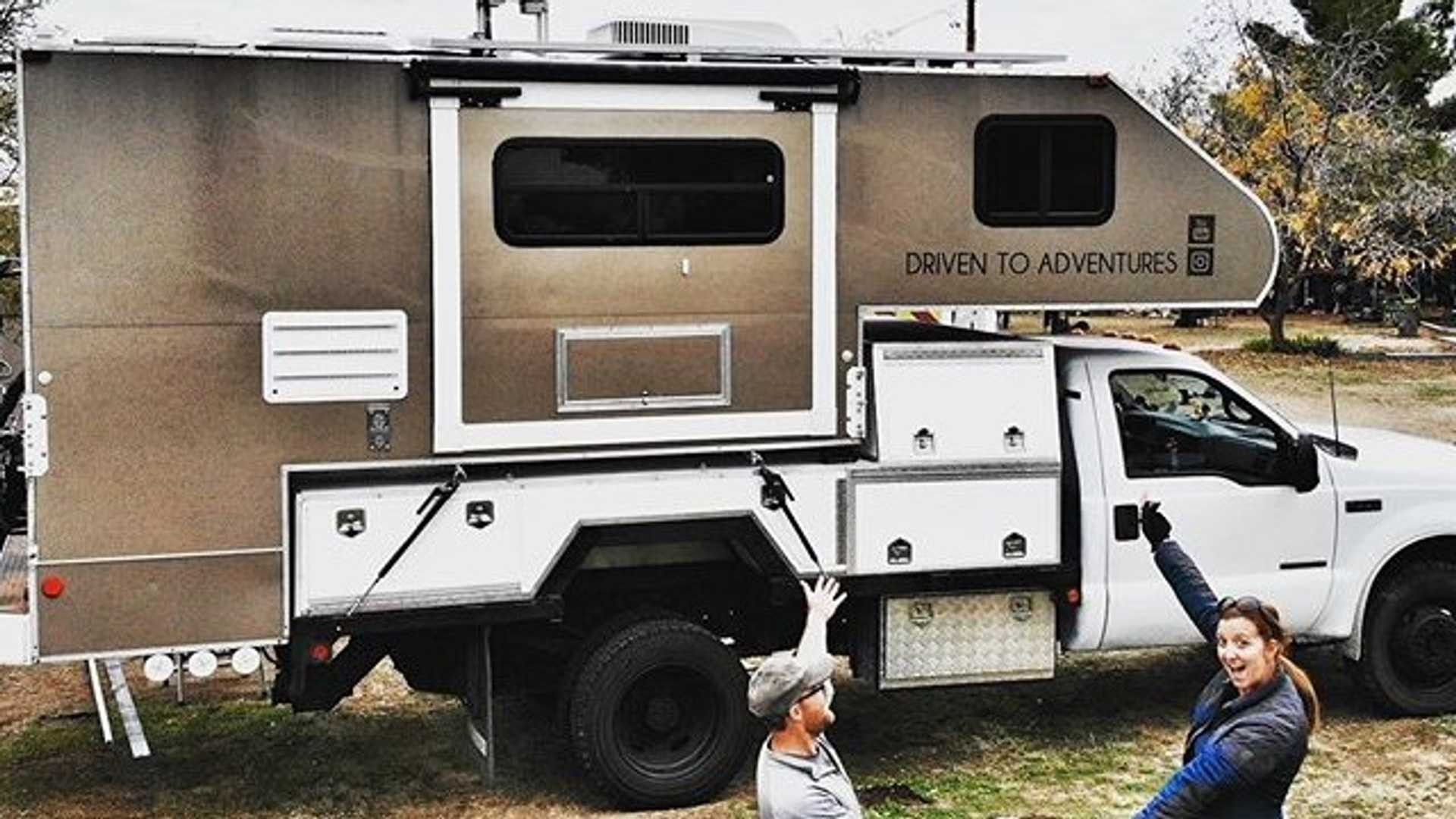 Couple Turns Ford F-550 Into Amazing Camper For Life On The Road