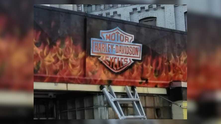Harley-Davidson Mural Gets Diner A Cease-And-Desist Letter
