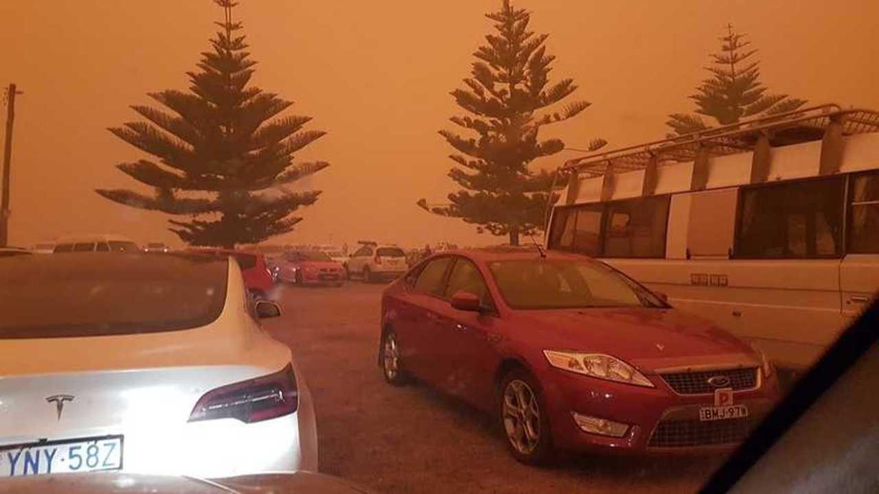 Tesla Model 3 Australia Fires
