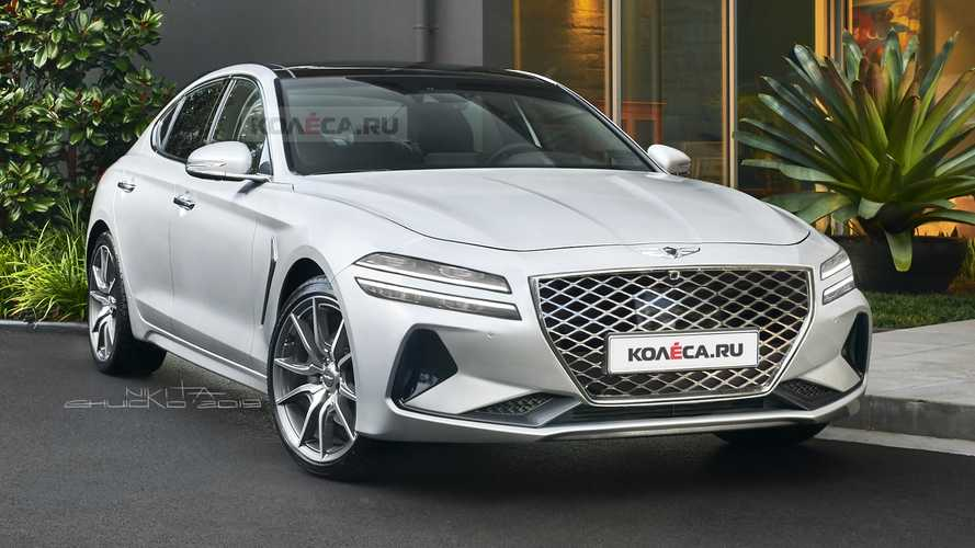 Genesis G70 Facelift Rendered With Split Headlights, Taillights