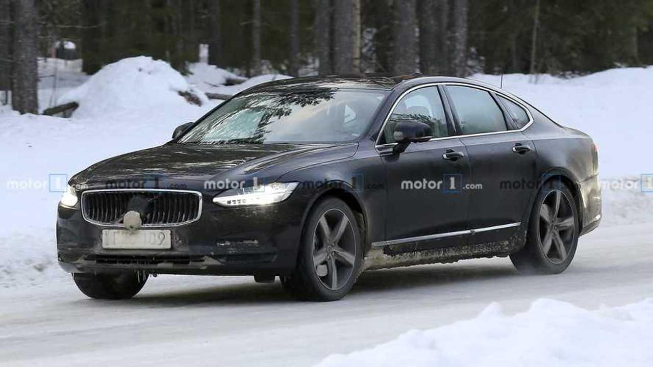 Volvo S90 Refresh Spy Shots