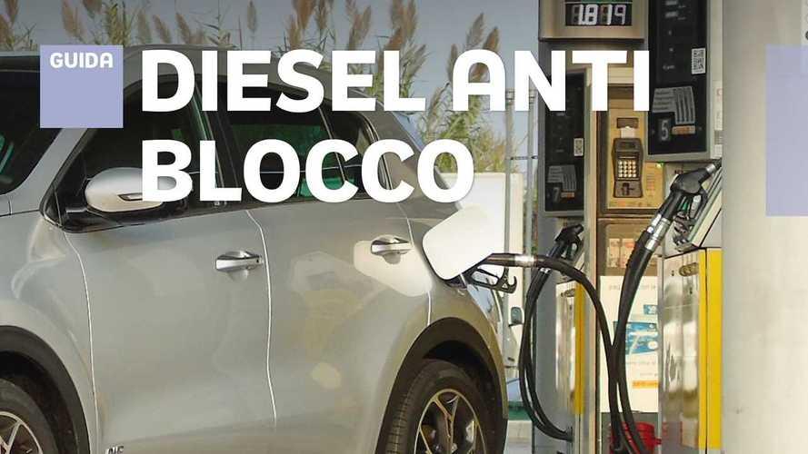 Auto diesel, i modelli che possono circolare col blocco del traffico