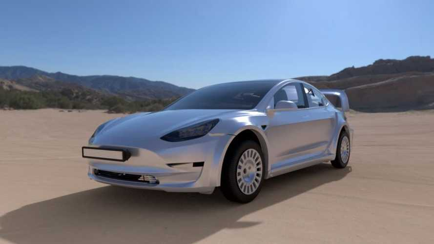 Tesla Model 3 Revealed In Rendered Rally Car Form