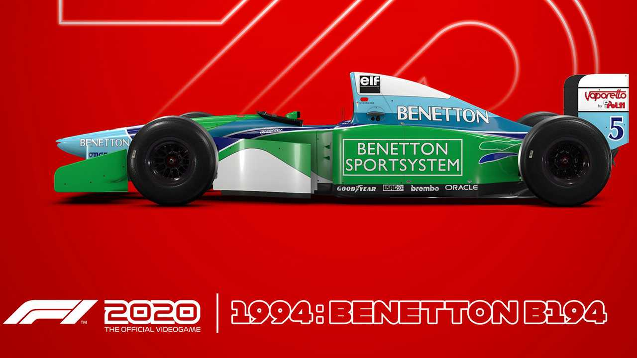 F1 2020 video game preview with 1994 Benetton