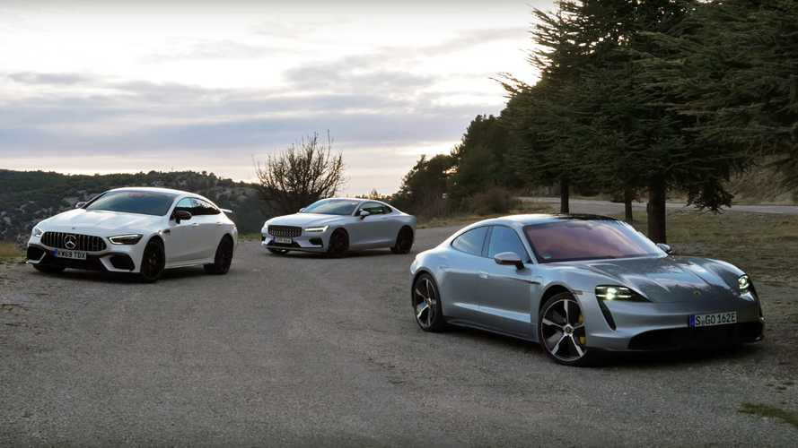 Porsche Taycan Turbo S Takes On Polestar 1, Mercedes-AMG GT 4-Door