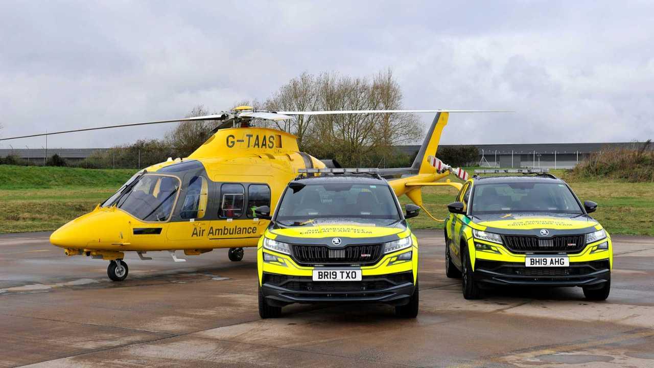 Informes de Skoda Kodiaq RS para servicio de ambulancia aérea 80