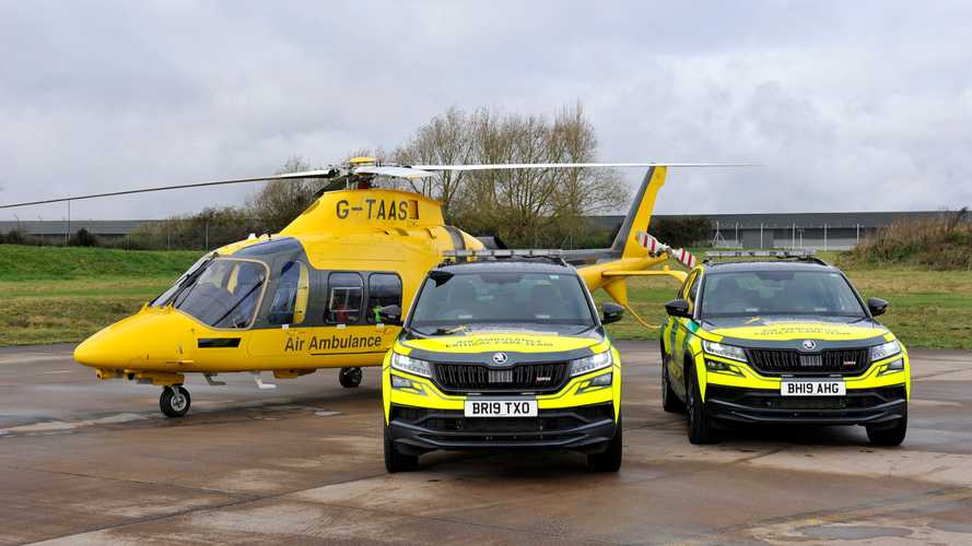 Skoda Kodiaq RS Reports For Air Ambulance Service Duty