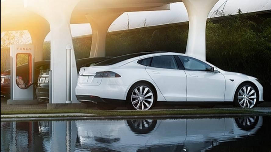 """Tesla, in arrivo i Supercharger per le ricariche """"lampo"""""""