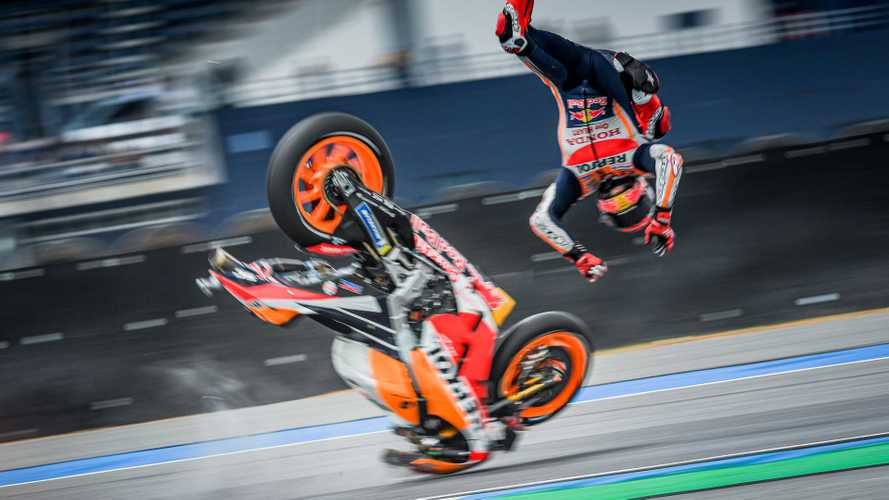 MotoGP's Reigning Champ Marquez Got Into A Gnarly Crash
