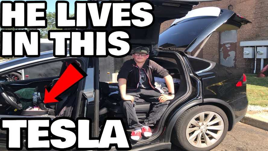 This Guy Is The Biggest Tesla Fan We've Ever Seen: He Lives In One!