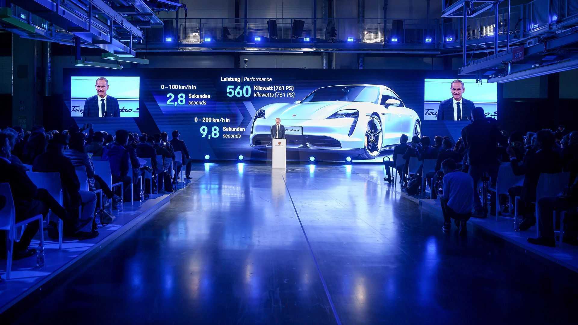Porsche Taycan production in Stuttgart-Zuffenhausen plant