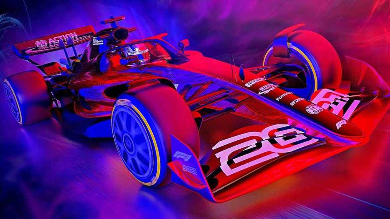 2021 Formula 1 rules car rendering