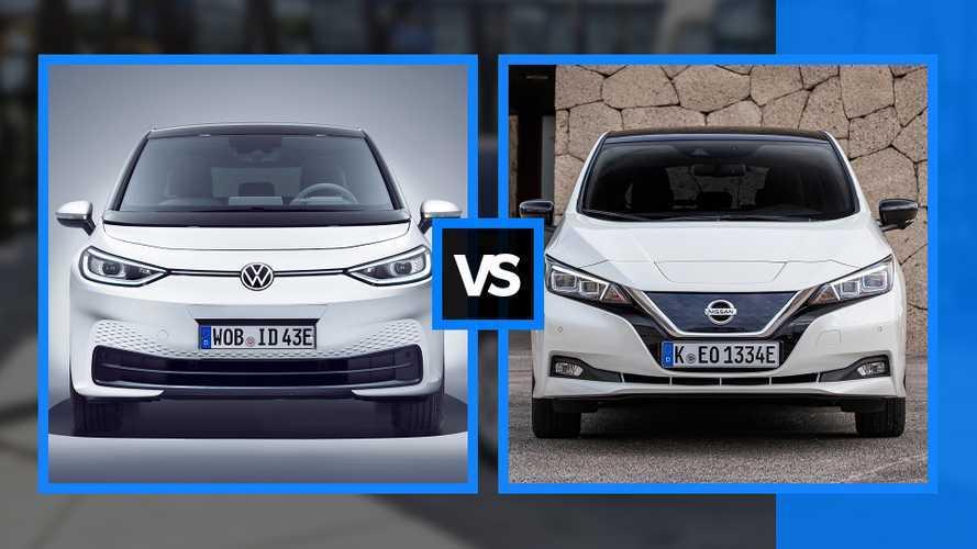 Volkswagen ID.3 sfida Nissan Leaf per il trono delle auto elettriche