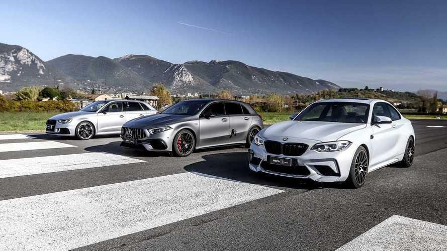 La Mercedes-AMG A 45 S affronte la M2 Competition et la RS 3 Sportback