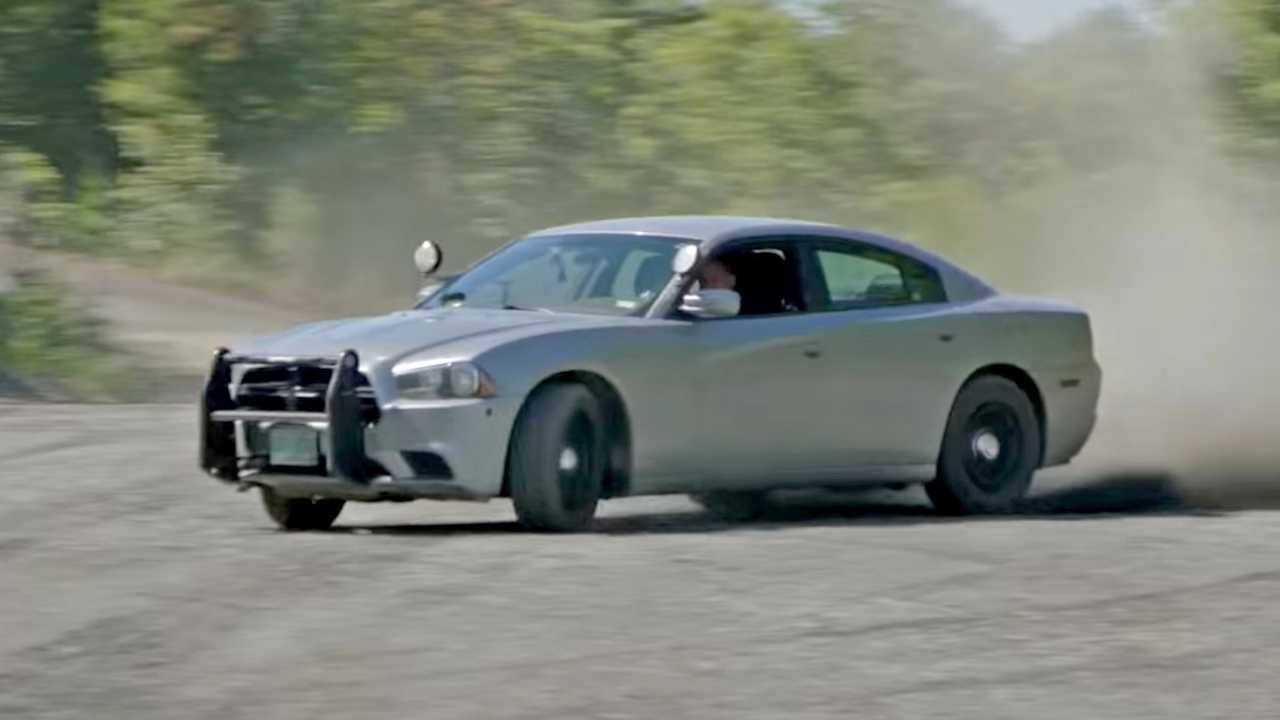 Mental Note: Don't Try To Outrun A Charger Cop Car On A Rally Course