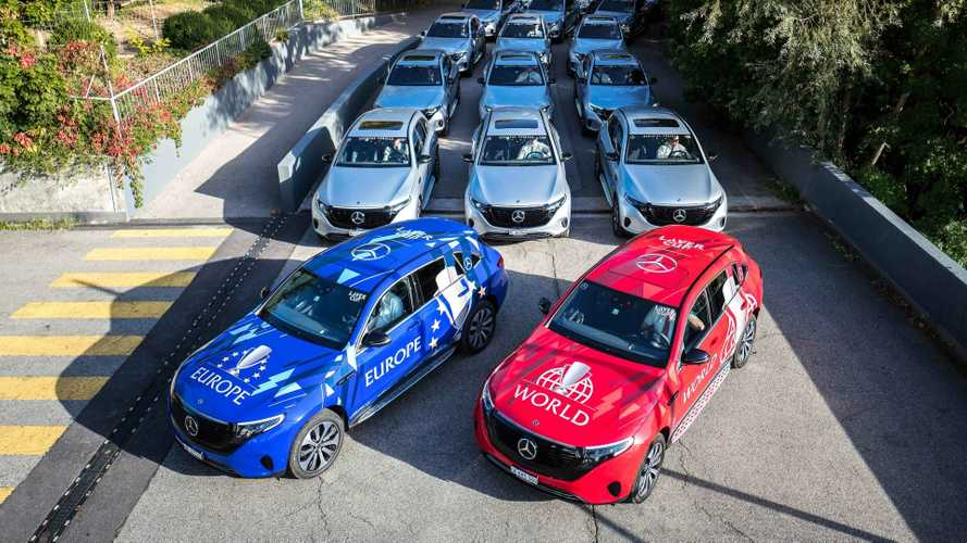 Mercedes-Benz EQC fleet for the Laver Cup tennis tournament
