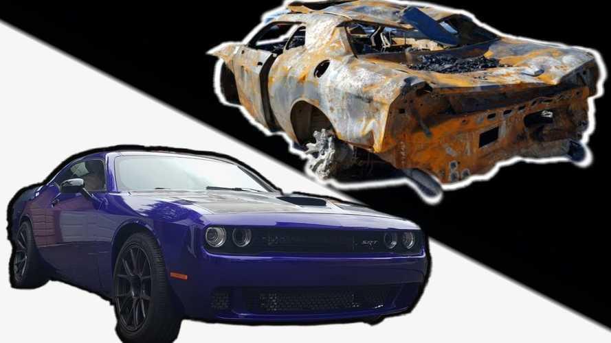 Burnt Dodge Challenger Hellcat Resurrected After 9 Months Of Hard Work