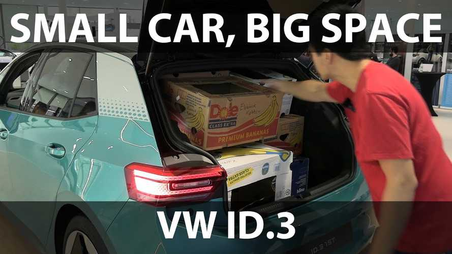 Volkswagen ID.3 Banana Box Test Beats Tesla Model 3, VW e-Golf