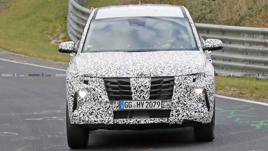 2021 Hyundai Tucson spy photos from Nurburgring