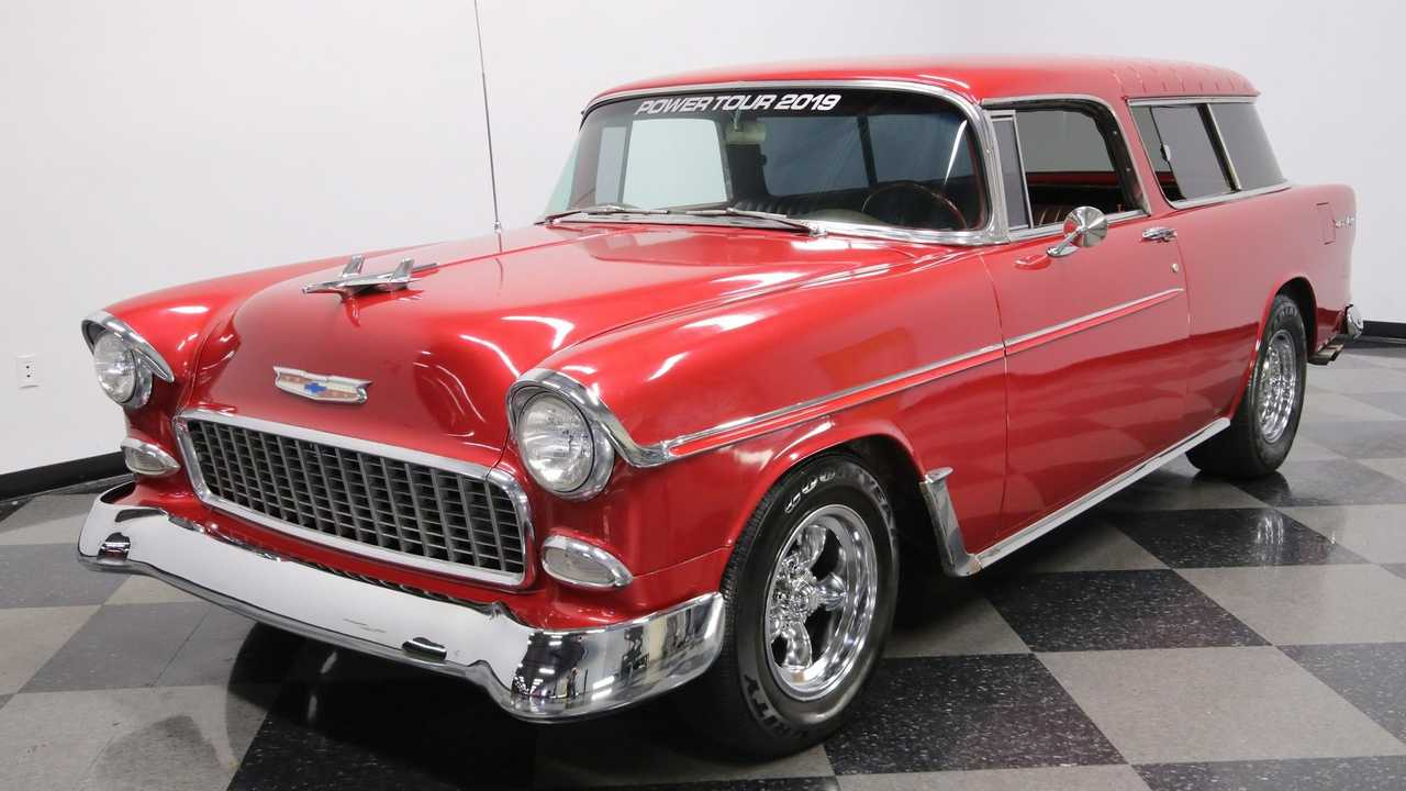 1955 Chevrolet Nomad Restomod Stuns In Metallic Deep Red