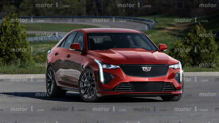 Render Cadillac CT4-V Blackwing: una berlina deportiva muy atractiva