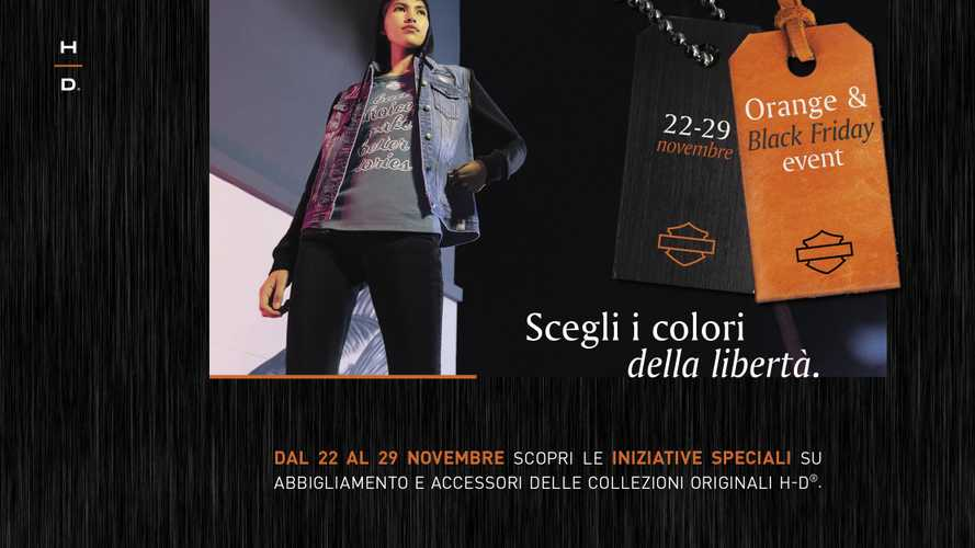 Harley-Davidson Orange and Black Friday, sconti sull'abbigliamento