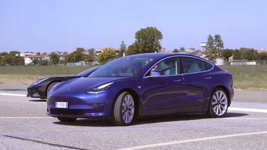 Speed Battle: Tesla Model 3 Performance, Model S P100D, Ferrari