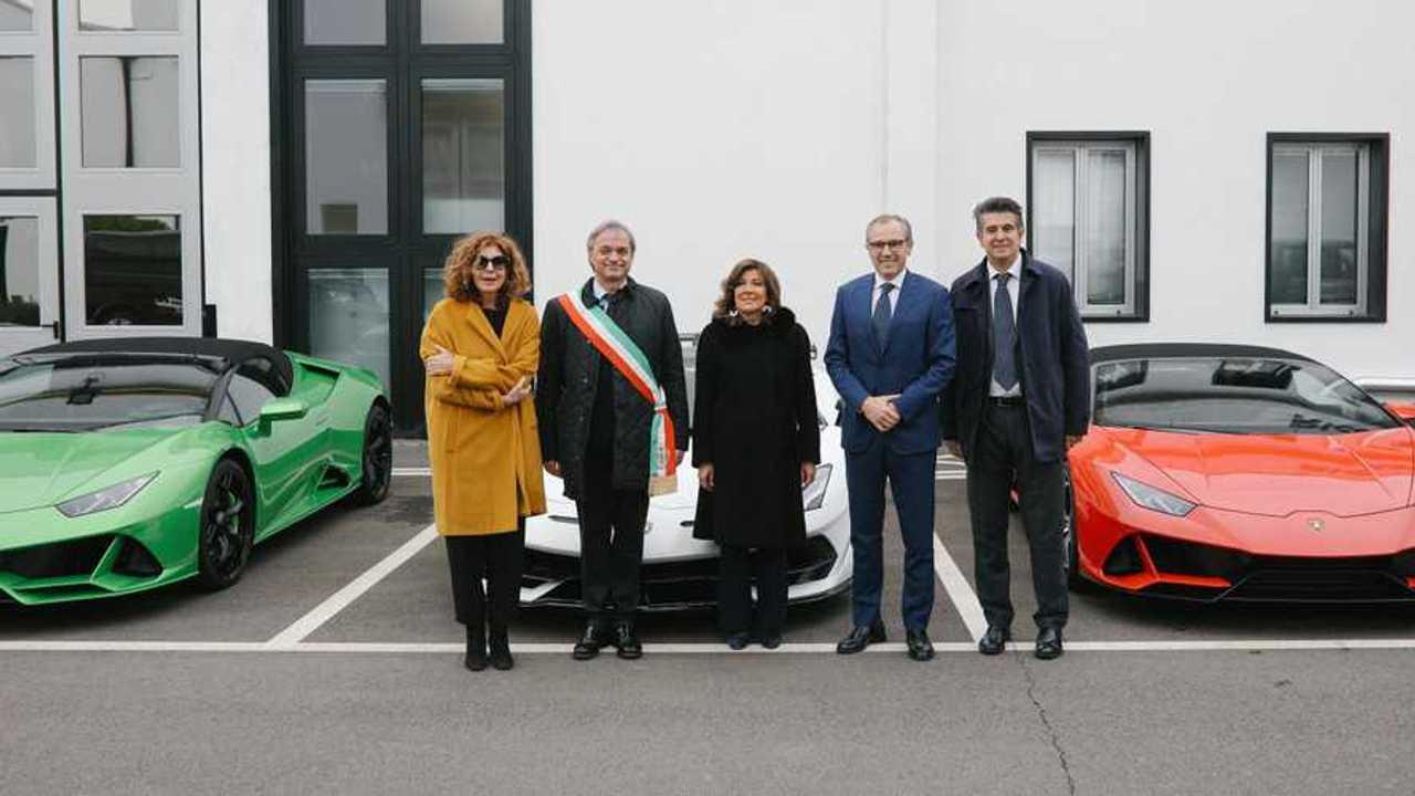 Elisabetta Casellati da Lamborghini