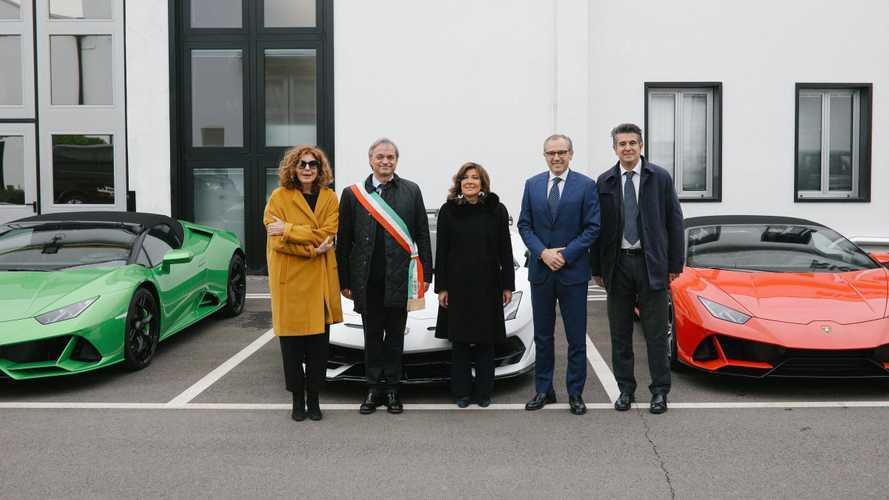 Lamborghini riceve la visita del Presidente del Senato