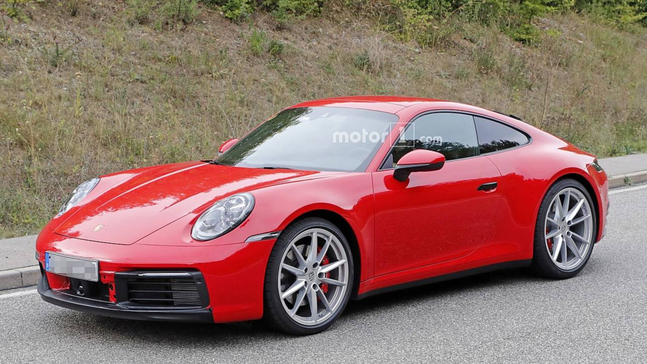2019 Porsche 911 Red And Blue Duo Spotted Virtually Undisguised