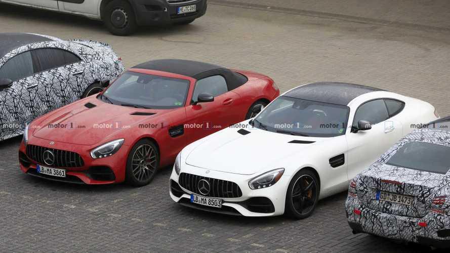 Photos espion - La Mercedes AMG GT à moteur six-cylindres débusquée