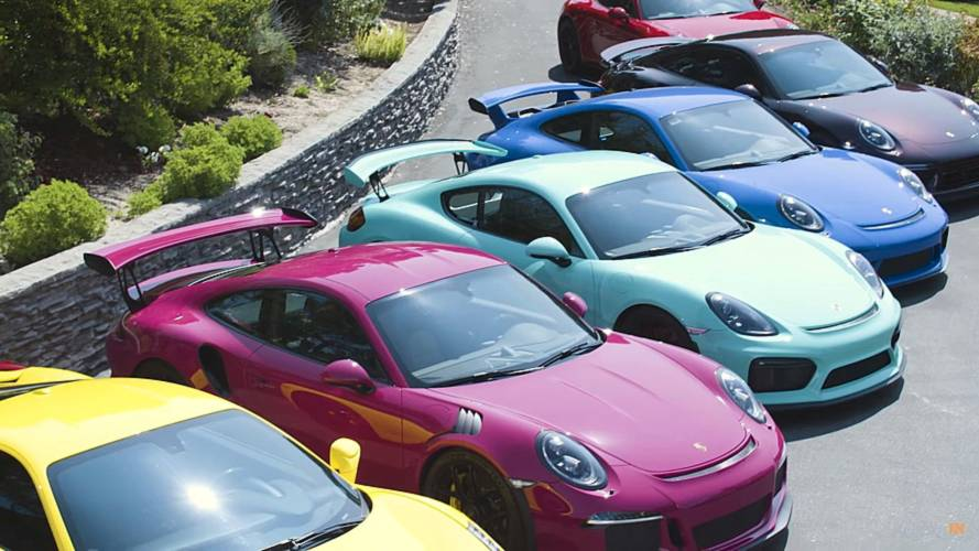 Woman's cool Porsche collection abounds with unique colours
