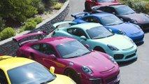 Colourful Porsche collection