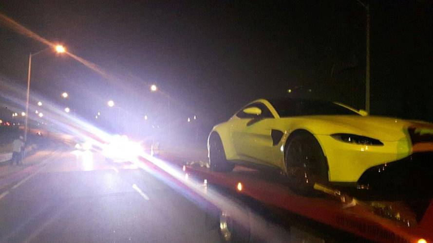 Dumb Aston Martin Vantage driver caught going 98 mph in school zone