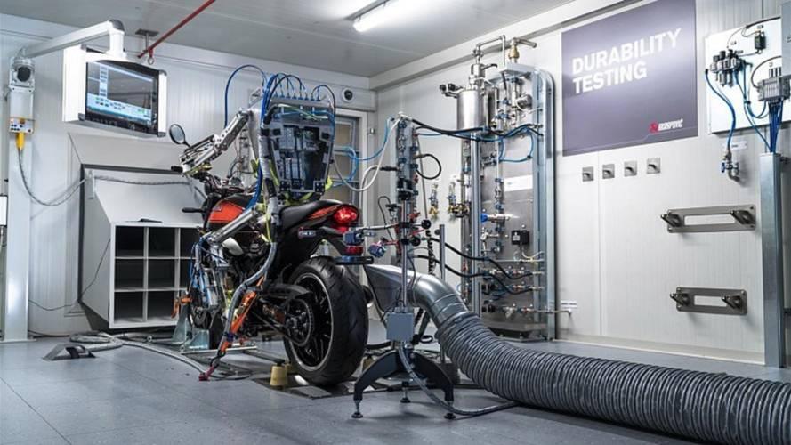 Akrapovic's Motorcycle-Riding Robot