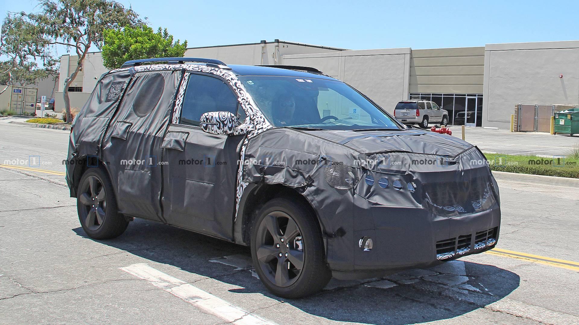 Honda Passport Spied Still Hiding Under Heavy Camouflage