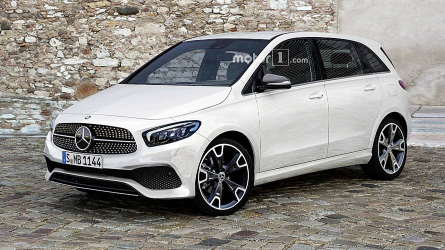 2019 mercedes b class imagined as sophisticated minivan. Black Bedroom Furniture Sets. Home Design Ideas