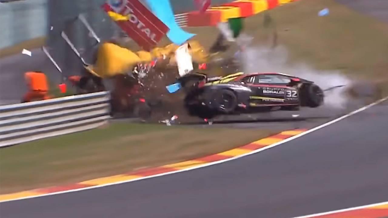 Crash during race 2