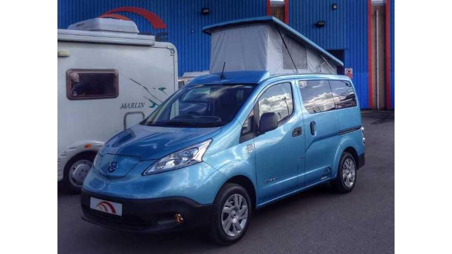 Nissan e-NV200 Transformed Into World's First Electric Camper Van