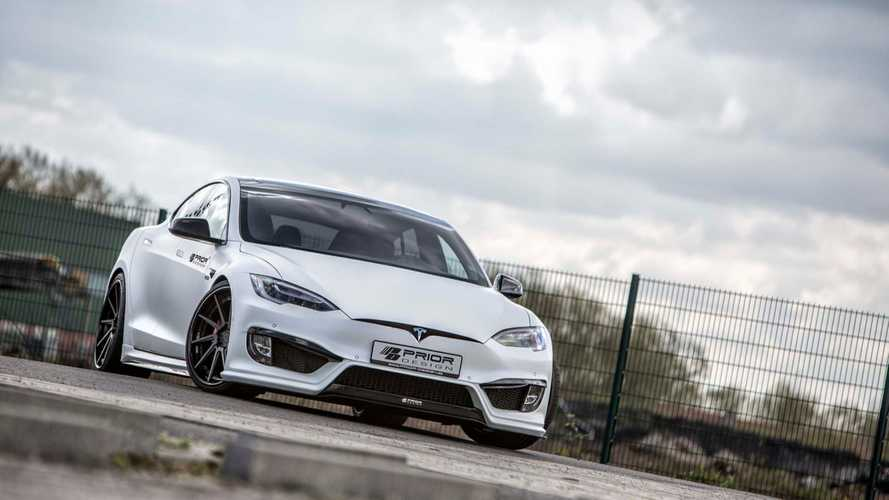 Tesla Model S Gets Understated, Yet Aggressive Update With New Aero Kit By Prior Design