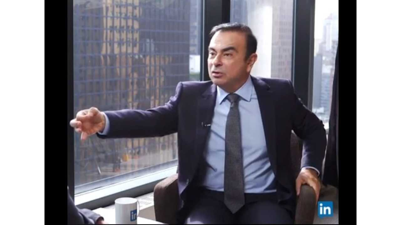 The EV Industry's Other Rockstar CEO - Carlos Ghosn, Talks Future Cars - Video