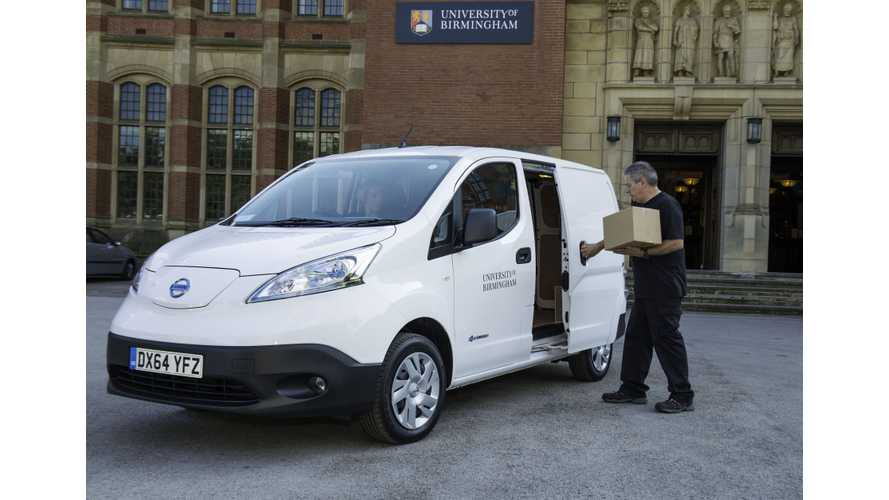 University Of Birmingham Takes Delivery Of Nissan e-NV200