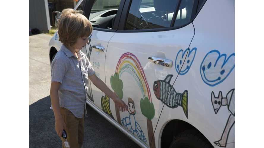 """Nissan Gives Six year-Old Henry, the """"Emotional Environmentalist"""", A Custom-Designed LEAF - Video"""