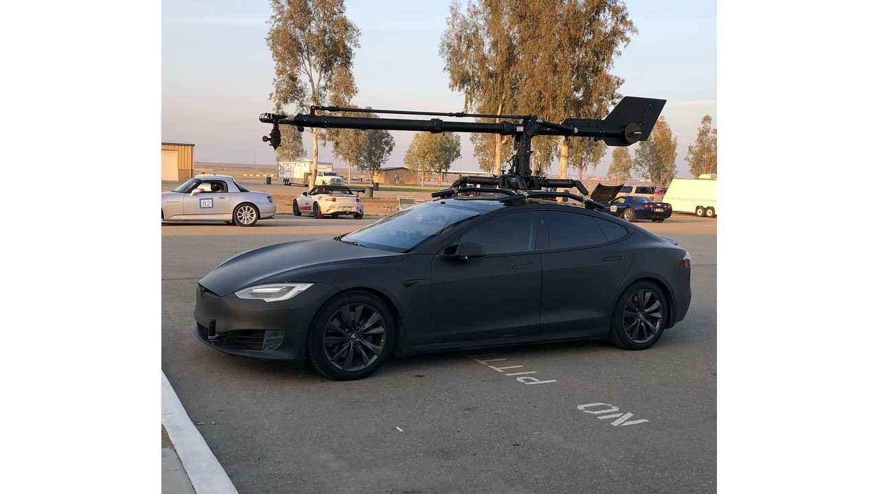 Check Out This Stealthy Black Tesla Model S Camera Car
