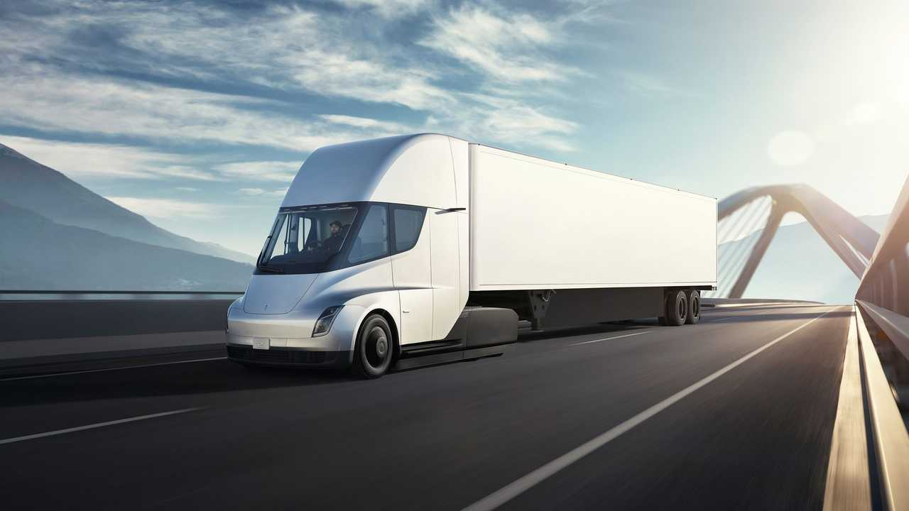 Check Out This Tesla Semi Hauling Lone Model X