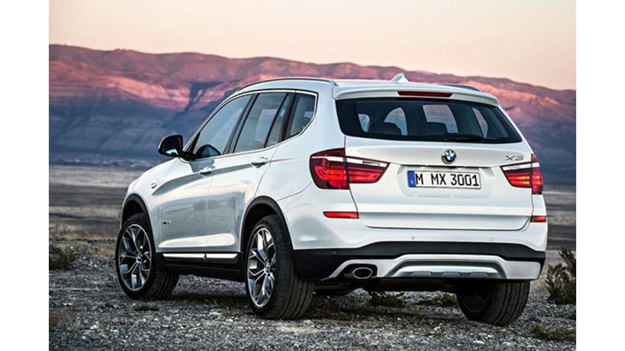 2017 BMW X3 Expected To Be Offered In PHEV Trim As X3 xDrive35e
