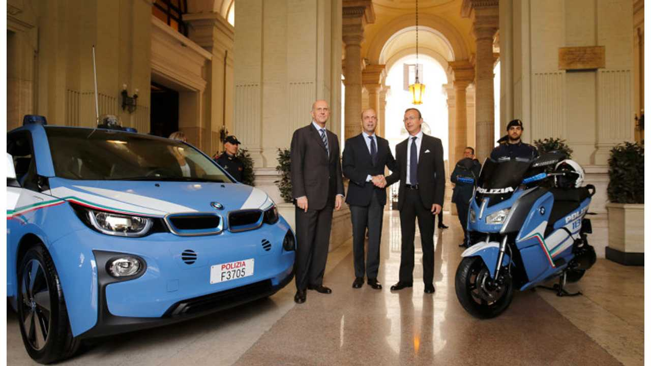 BMW i3s & C Evolution Electric Scooters Ready For Police Duty In Italy