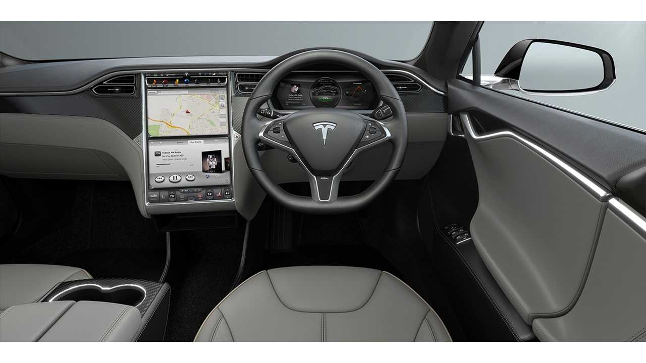 Tesla Model S RHD interior