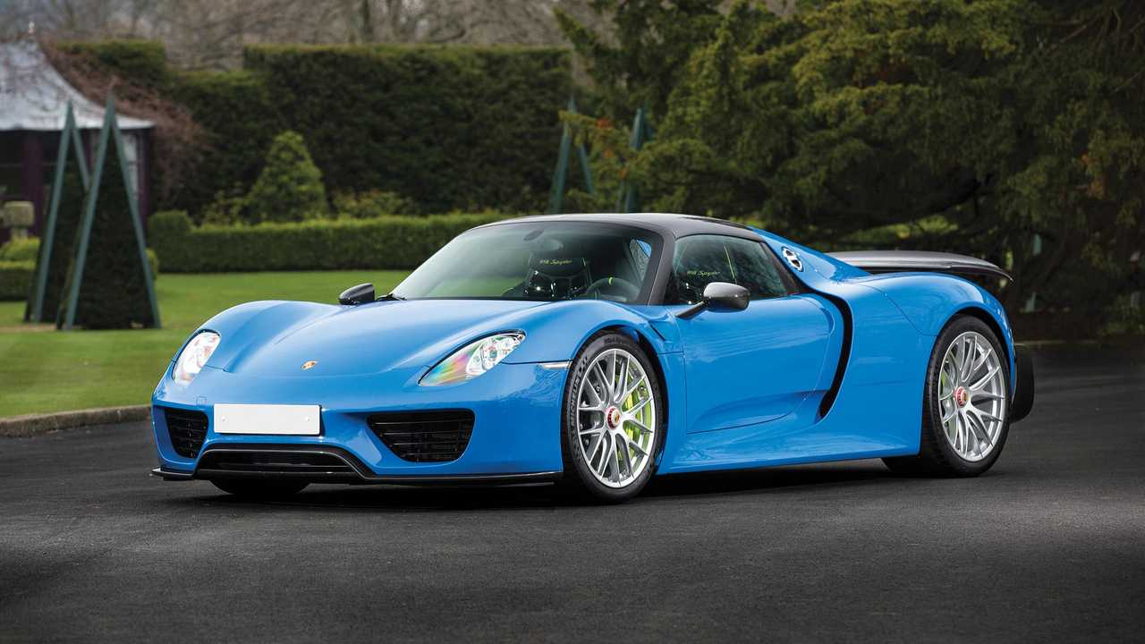 One-Of-A-Kind Arrow Blue Porsche 918 Spyder Up For Auction
