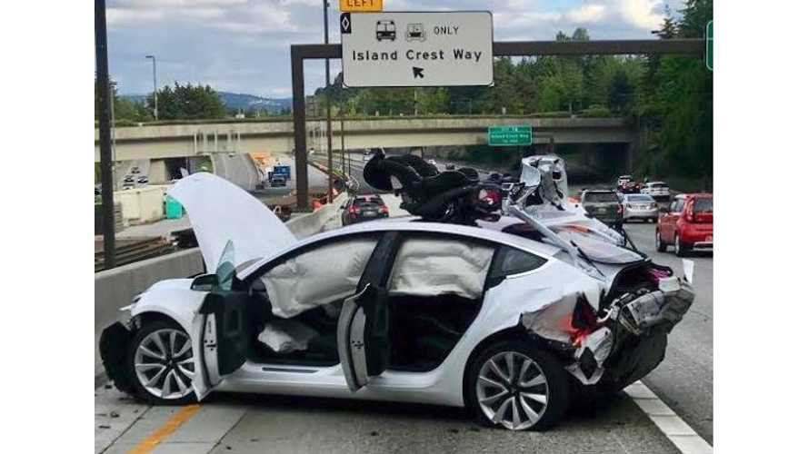 Tesla Model 3 Rear-Ended By Street Racing Camaro Driver